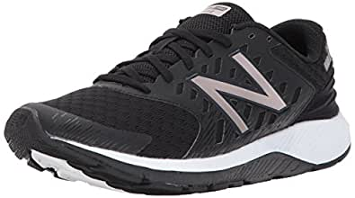 New Balance Women's URGEV2 Running Shoe, Black/Champagne Metallic, 5 D US