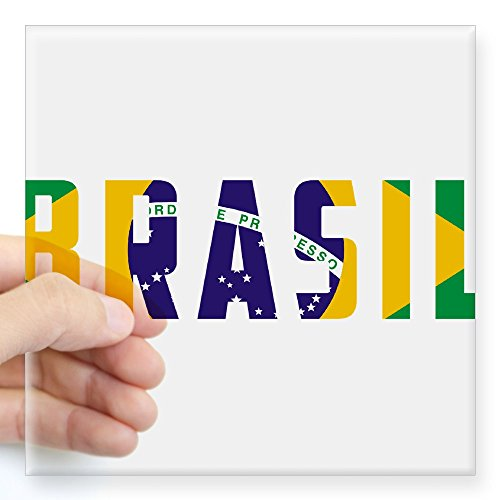 CafePress Brasil-Brazil Flag Square Sticker 3