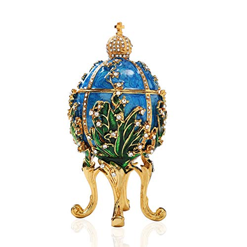 Used, QIFU Hand Painted Enameled Faberge Egg Style Decorative for sale  Delivered anywhere in USA