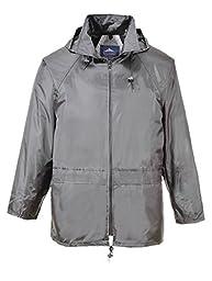 Portwest Workwear Mens Portwest Rain Jacket Grey XXL