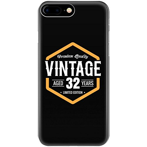 Vintage 32nd Birthday Gift - Phone Case Fits Iphone 6 6s 7 (32nd Birthday Rock)