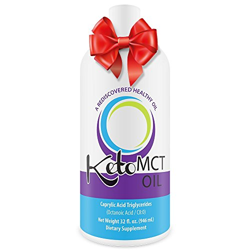 KetoMCT C8 Caprylic Acid MCT Oil, 32 oz.
