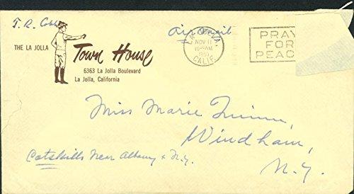 Ty Cobb - Autograph Envelope Signed 11/11/1959