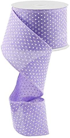 Lilac Spotty Fabric Bows Embellishments for Crafts x 10