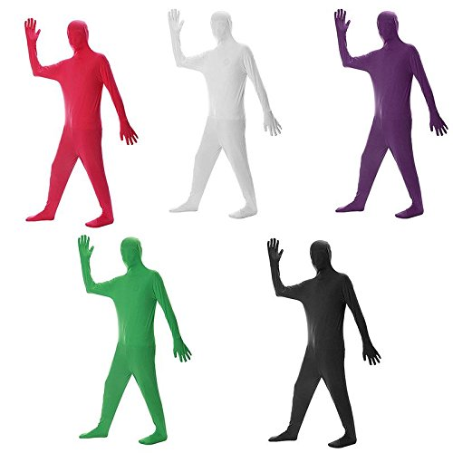 Bodysuit JUIOKK Silk Fabric Halloween Party Full Body Invisible Man Zentai Clothes Whole Body Cover Costume Masquerade Party Supplies Props]()