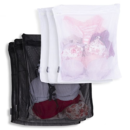 Rack and Hook Laundry Wash Bags For Hosiery, Underwear, Bra,