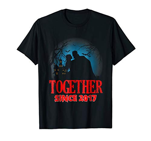 Together Since 2017 - Anniversary T-shirt Halloween Tee