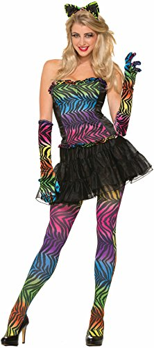 Womens Sexy Rainbow Tiger Print Thigh High Pantyhose (Print Pantyhose Tiger)