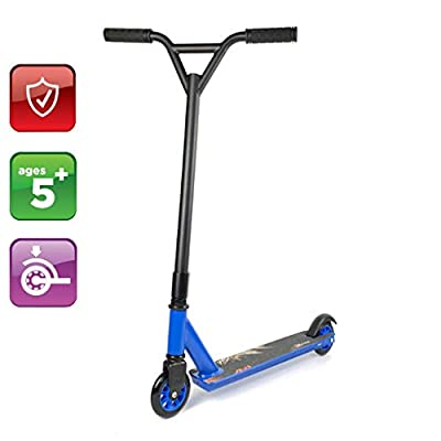 Off-Road Takeoff Pedal Scooter Scooter Air Tires, Boy Girl Birthday Gift - Wheel Hub:High Strength Plastic Easy to Carry Space Saving Extreme Off-Road Scooter Two Wheels: Home & Kitchen