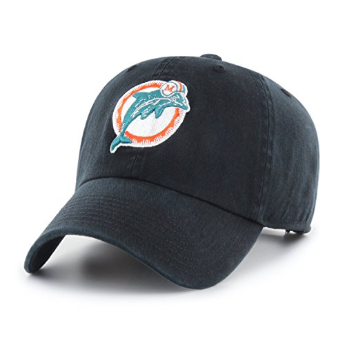 OTS NFL Miami Dolphins Legacy Challenger Adjustable Hat, One Size, Black