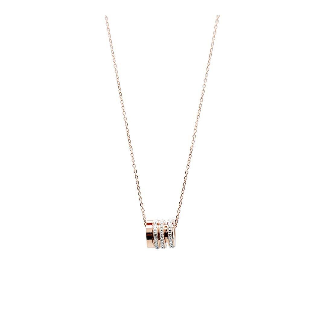 最安価格 ZUXIANWANG学生ネックレスクリエイティブ潮サークルネックレスチタン鋼非着色短い鎖骨チェーンジュエリー B07KW124BP, 暮らしを彩る  いろえんぴつ:1574dcad --- a0267596.xsph.ru