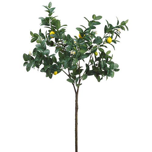 63'' Artificial Lemon Branch Spray -Yellow (pack of 2) by SilksAreForever