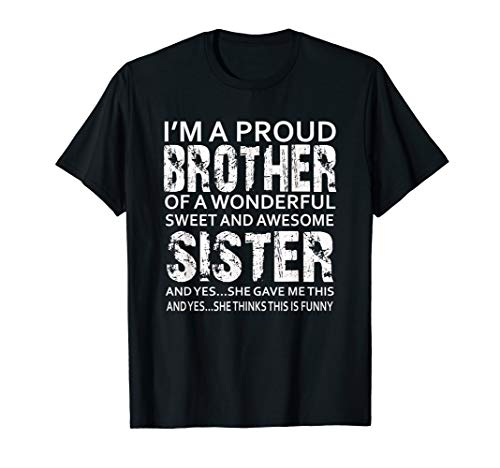 Funny gift Birthday for Brother from Sister Present