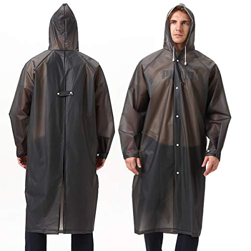 Unisex Multipurpose Work Rain Poncho EVA Reusable Portable Raincoat for Outdoors
