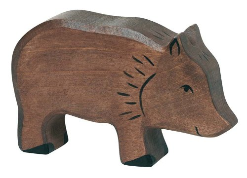 Holztiger Boar Toy Figure, Brown