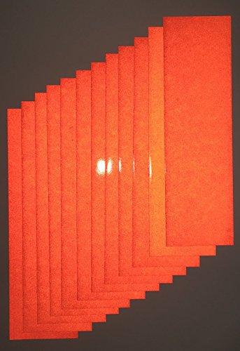 Orange Reflective Tape (Motorcycle ATV Orange Reflective Adhesive Vinyl Tape 3.5