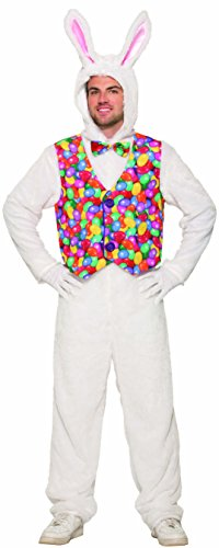 Forum Novelties Unisex-Adult's Standard Easter Bunny Jumpsuit with Vest, as as Shown, Standard