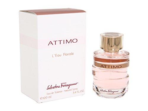 Salvatore Ferragamo Attimo L`Eau Florale Women Eau De Toilette Spray, 3.4 Ounce