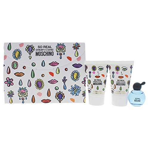 Moschino Cheap & Chic so Real By Moschino for Women - 3 Pc Gift Set 4.9ml Edt Splash, 0.8oz Shower Gel, 0.8oz Body Lotion, 3count