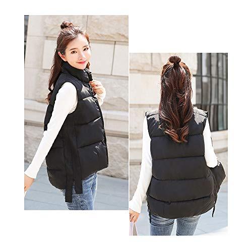 noir d'hiver courte sans Veste chaud Gilets en Women's noir manches duvet Manteau Xfentech qpw6a7nH