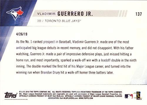 Rookie Card 1st Official Rookie Card 2019 Topps Now Baseball #137 Vladimir Guerrero Jr