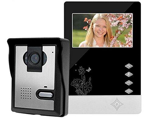 Intercom System Telephone Interface - HITSAN doorphone 4 3lcd color screen video doorbell door phone for home speakerphone intercom system with waterproof outdoor ir camera