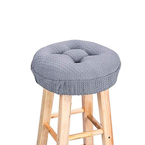 (Lominc Thick Round Bar Stool Cushion with Elastic, Water & Oil Repellient,Suitable for 13.5