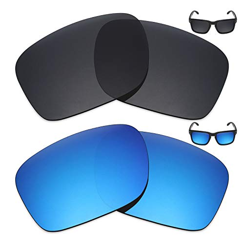 Mryok 2 Pair Polarized Replacement Lenses for Oakley Holbrook Sunglass - ()