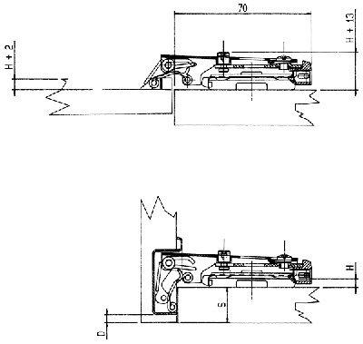 110 Degree Aluminum Frame Overlay Hinge in Nickel - 4 Pack