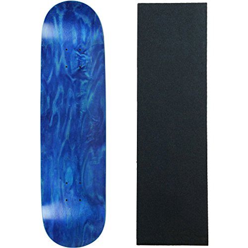 Moose Skateboard Deck Blank Stained Blue 7.63