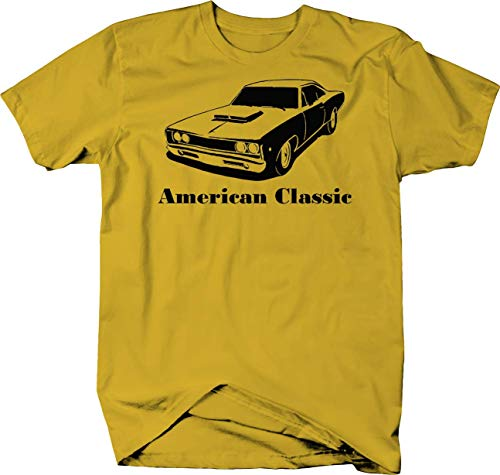 American Classic Plymouth Mopar Dodge Super Bee Muscle Car Color Tshirt - Large ()
