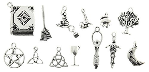 AVBeads 13 Piece Mixed Pagan Wiccan Charms ()