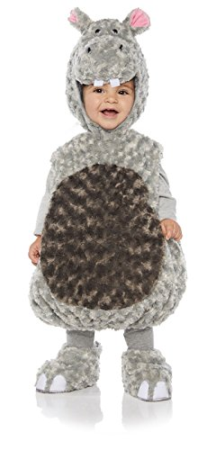 Toddler Halloween Costumes Hippo (Underwraps Kid's Toddler's Plush Hippo Belly Babies Costume Childrens Costume, Gray,)