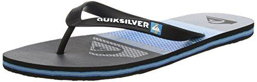Noir Quiksilver Slab Highline grey Tongs Pour blue Molokai Homme Black Aqyl100568 17w1qgH
