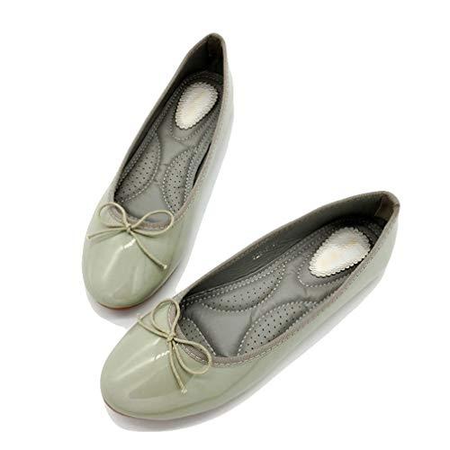 August Jim Women's Ballet Shoe,Round Toe Slip-on Cute Comfort Flat Shoes Black