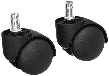 eDealMax a13112000ux0308 vástago de la ruedecilla Ruedas 2 pulgadas Dia Negro Dual plástico ruedas de Giro