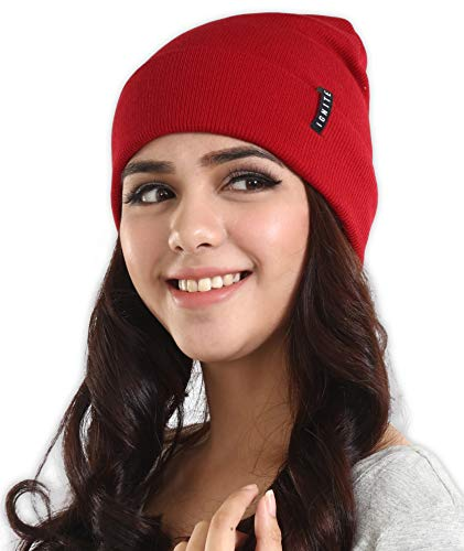 IGN1TE Cuff Beanie Watch Cap for Men and Women - Warm, Stretchy & Soft Knit Hats - Stylish Toboggan Skull Caps - Serious Beanies for Serious Style