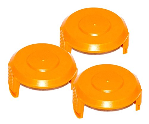 (WORX WA6531 GT Trimmer Replacement Spool Cap Covers (3 Pack))