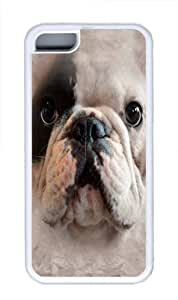 Big Face Manny TPU Silicone Case Cover for iPhone 5C White