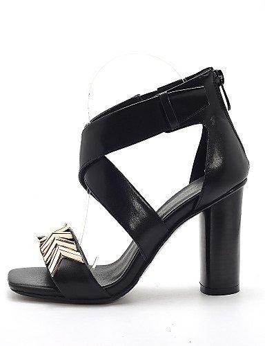 5b327f17ce ... lfnlyx de zapatos de mujer Chunky talón tacón Peep Toe Gladiator Open  Toe ...