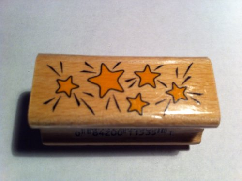 Star Mini Border Rubber Stamp ()