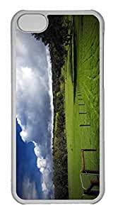 iPhone 5C Case, Personalized Custom The Green Hills for iPhone 5C PC Clear Case