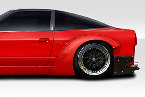 (Duraflex ED-FPM-393 RBS V3 80mm Rear Fender Flares -2 Piece Body Kit - Compatible For Nissan 240SX 1989-1994)