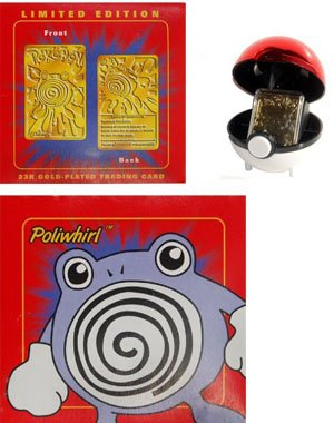 POLIWHIRL #61 - MIB Pokemon Burger King Gold Card - Red by Pok?mon