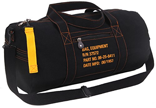 Rothco Canvas Equipment Bag, Black