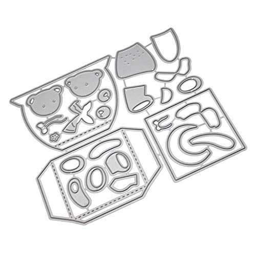 Cutting Dies,IHGTZS 2019 Father's Day DIY Photo Album Metal Die-Cut Stencils For Scrapbooking Paper Card Gift for father DIY Gift Metal Die-Cut Stencils For Scrapbooking Photo Album Paper Card -