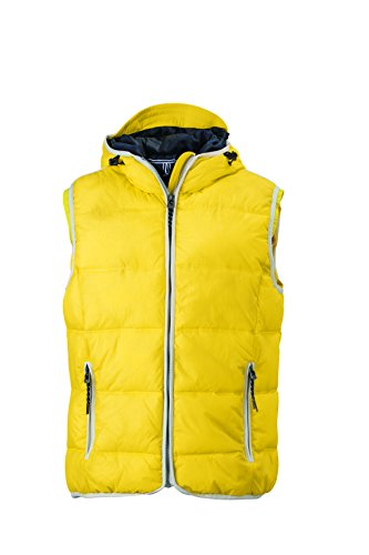 Alla Vest Cappuccio Gilé white Imbottito Moda Con Men's Sun yellow E Maritime 1Xw8dwrxq