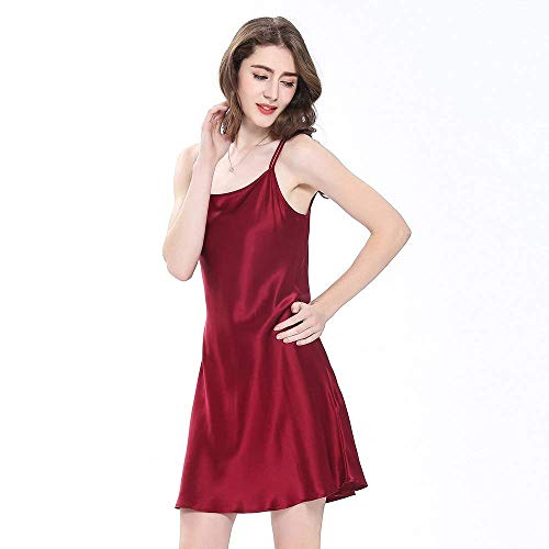 Calzado Mini Vestido Para De Cálido Mujer Seda Noche Mujeres Adorable Verano Winered Camisón Corto Pijama Casuales 1wq1TxA