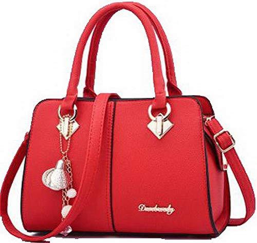 tracolla Festa AgooLar cerniere Rosso Borse Moda Verde GMMBA181835 Dacron a Donna 0HnB01A