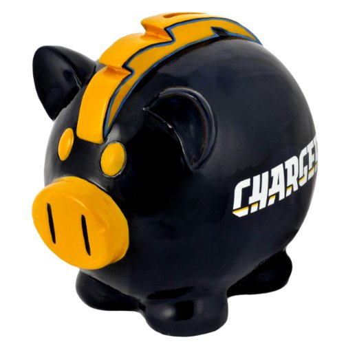 FOCO NFL San Diego Chargers Resin Large Thematic Piggy Bank